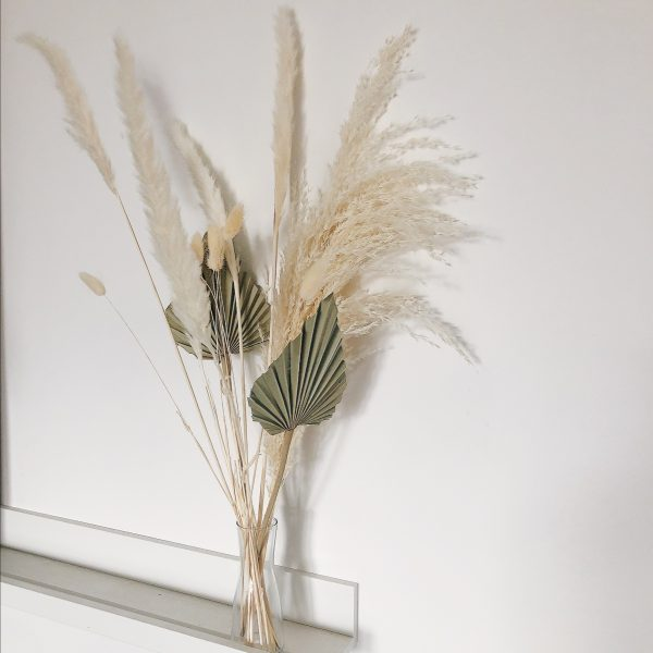 Dried flowers bouquet made from Pampas, Palm Leaf Spears, Bunny tails, everlasting bouquet, dried pampas grass