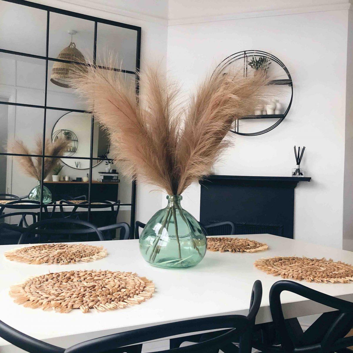 brown faux pampas, artificial pampas, artificial flowers, artificial flower arrangement, flower decor, pampas decor, pampas uk