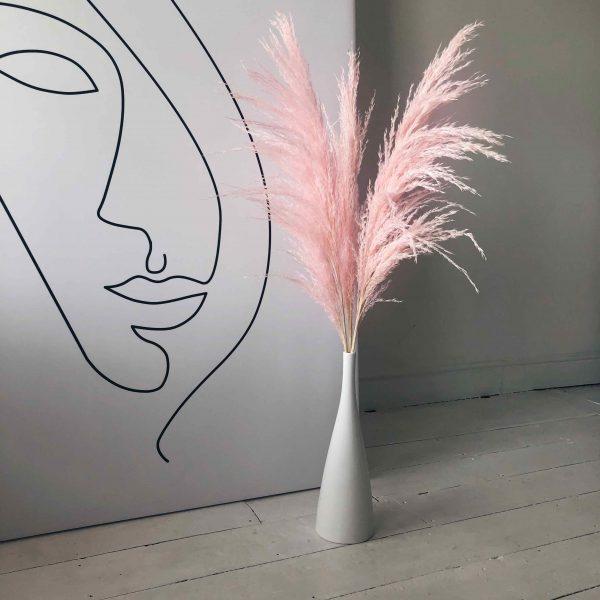 pink pampas, pink pampas grass, fluffy pink pampas, pink vase arrangmenet, dried flowers, pink dried flowers, light pink pampas, dried pampas, pink decor