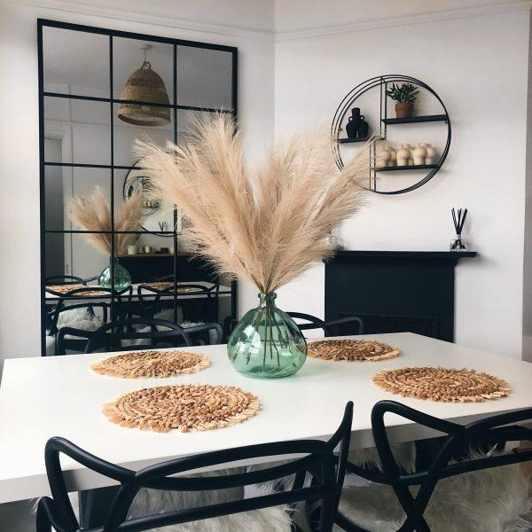 cream faux pampas, artificial pampas, artificial flowers, artificial flower arrangement, flower decor, pampas decor, pampas uk
