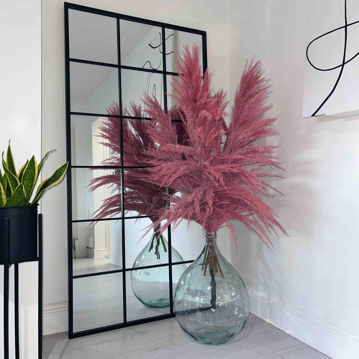 pink pampas, huge pink pampas, pink dried pampas, fluffy pink pampas, tall pink pampas, pampas cloud, pink pamaps cloud, pink decor, recycled glass vase